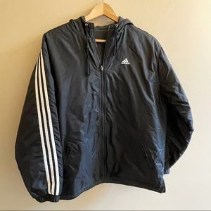 Adidas classic print reversible coat SIZE M